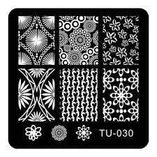 HOT Manicure TU Nail Stamping Plate Stainless Steel Nail Art Stamp Template T-30