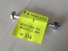 Axe de béquille diamètre 7mm pour cyclos motobécane / mbk serrage avec clé de 11