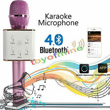 Rosa Q7 Wireless Bluetooth Handheld KTV Karaoke Mikrofon Mic Lautsprecher Telefo