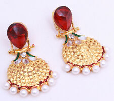 Beautiful Stylish Designer Fashion Latest Crystal Big Looking Earrings For Women