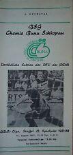 Programma 1987/88 BSG Chemie Buna Schkopau-progresso Weida
