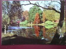 POSTCARD SUSSEX SHEFFIELD GARDENS THE UPPER LAKE IN AUTUMN