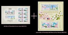US 4982-4985 Japan Gifts of Friendship 2 sheets MNH 2015