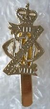 Staybrite 13th/18th King's Hussars Cap Badge maker JR GAUNT, Anodised