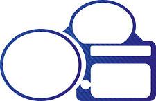 Für BMW K1200R  und R Sport Tachoringe Carbonlook Folie blau