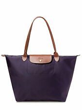 NEW AUTH LONGCHAMP Le Pliage Large Nylon TOTE Shoulder BAG Bilberry Purple $145