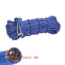 15m Tree Rock Climbing Safety Sling Rappelling 10mm Rope Auxiliary Cord Equip