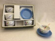Japanese tea set 5 cups and saucers and spoon