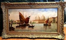 OIL PAINTING SIGNED DIBDIN 19th CENTURY LARGE ( VENICE GIOVANNI ANTONIO CANAL)