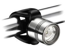 Lezyne Femto Drive LED Frontlicht, Aluminium Gehäuse mit Silikon Strap, Silber