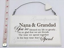 Blessed Nana & Grandad Wall Plaque Anniversary Gift Ideas for Grandparents & Her