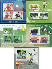 Olympic Games Rio Football Ping Pong Tennis Basketball Madagascar MNH stamps set