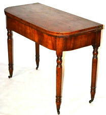 Edwardian mahogany Console Table Folding Card Occasional Table [PL3336]