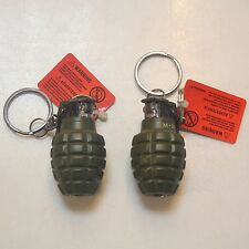 NEW Grenade Shaped Military Tactics Refillable Butane Gas Flame Cigar Lighter
