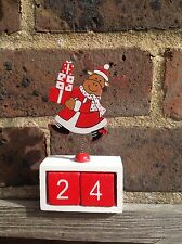 LAST FEW! Shabby Chic Wooden Christmas Reindeer Countdown to Christmas Calendar