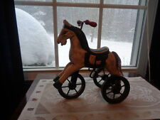 Vintage Toy Tricycle Horse  wood and metal Decorative