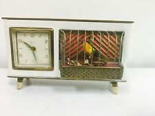 Vintage 1960s Bird Cage Music Box Alarm And Clock. WORKING!! But Needs Service