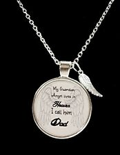 Dad In Heaven Guardian Angel Father In Memory Remembrance Wing Necklace