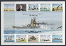 TANZANIA:1992 60th Anniversary of Pearl Harbour sheetlet SG1314-21 MNH