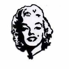 Embroidered Patch Iron Sew Logo Emblem Custom Hardcore Rare MARILYN MONROE RETRO