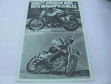 Original 1977 Harley Davidson Race Poster Indianapolis Jay Springsteen Ted Boody
