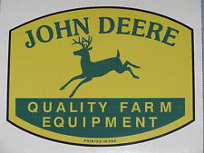 "JOHN DEERE 1.75"" QFE 1950's PRINTED IN USA (2) TWO DECAL STICKER TRACTOR GATOR"