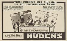 Y8819 Luminaires HUBENS - Pubblicità d'epoca - 1936 Old advertising