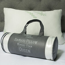 Sweet Home Collection Hypoallergenic Bamboo Memory Foam Pillow Queen w/Carry Bag