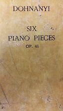 Dohnanyi: Six Piano Pieces: Music Score (K2)