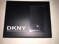 BNIB DKNY Black Leather Bifold Wallet. Gift Idea.