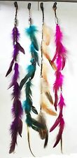 "Bundle 4 PC 23"" Multi-Colors Clip On In Colorful Real Feather Hair Extensions NY"