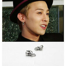 G-Dragon GD BIGBANG BB Skull SILVER EARRINGS KPOP NEW FR230
