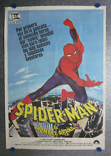 1977 The Amazing Spider-Man NICOLAS HAMMOND MARVEL Spanish original poster