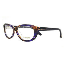 Tom Ford FT5226 083 Women's Plastic Frames Cat-Eye Eyeglasses, Violet Havana