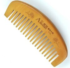 Natural wide tooth Peach wood no-static massage hair wood comb on sale