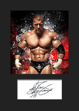 TRIPLE H #3 (WWE) Signed Photo A5 Mounted Print - FREE DELIVERY