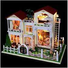 Gigantic DIY Handcraft Miniature Dolls House -Top Dollhouse with Lights-UK Stock
