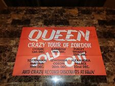 Queen Rare Signed Concert Gig Show Poster Brian May & Roger Taylor Classic Rock