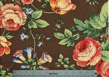 Jay Yang Fabric Lyndhurst Brown Red Green Brown Blue Drapery Upholstery