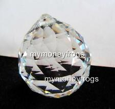 #S Crystal Clear Feng Shui Faceted Hanging Prism Glass Ball Rainbow Charm Sphere