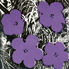Flowers, c.1964 (4 purple) by Andy Warhol Art Print Poster Floral Flower 23x23
