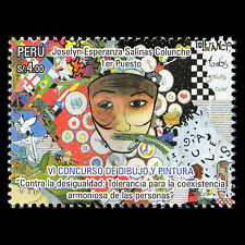 "Peru 2013 - Children's Drawings ""6th School Painting Contest"" Art - Sc 1839 MNH"