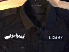 Motorhead Road Crew Lemmy Black Camouflage Army Shirt Jacket Ace Of Spades Metal