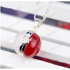 Anime Pokemon Pocket Monster Pokeball Silver Pendant Necklace Chains Gifts