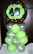 """AGE 40 40TH BIRTHDAY 18"""" FOIL BALLOON TABLE DISPLAY DECORATION AIR FILL LS"""