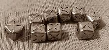 9pcsStrand of Antiqued Silver Tone Metal  Beads  Ships from USA #10