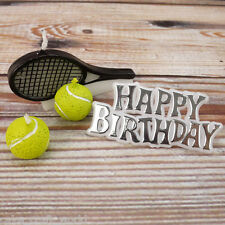 TENNIS CANDELA KIT-HAPPY BIRTHDAY motto con palle da tennis e racchette CANDELE