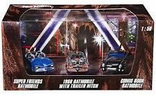 HOT WHEELS: BATMAN VEHICLES: SUPER FRIENDS, COMIC BOOK & 1966 CHROME BATMOBILES