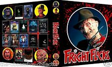FRIGHT FLICKS Custom Trading Card Binder 80s horror movies Topps FREDDY / ALIEN