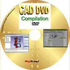 CAD FreeCAD BRL 2D 3D modelling animation16 great programs DVD Over 3.3 GIGABYTE
